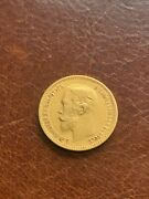 1900 Imperial Russian Empire 5 Roubles Rubles Gold Coin, Czar Nicholas Ii