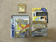 Pokemon Gold Version Gbc New Battery, Tested, Authentic