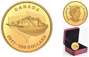 2021and039the Launch-100th Ann. Of Bluenoseand039 Prf 100 Fine Gold Coinrcm 20016020120
