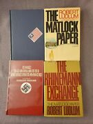Robert Ludlum / Lot Of 4 Books Titles In Description / 3 First Editions