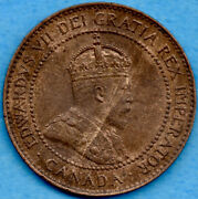Canada 1904 1 Cent One Large Cent Coin - Au