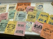 Lot Of 30+ Vintage Movie Programs From Eagle Theatre In Eagleville Missouri