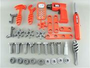 Black And Decker Battery Operated Screw Gun Drill Kids Toy Play Tool Set Parts Lot