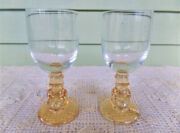 Vintage Collectible Set Of Winnie The Pooh Carnival Glass Goblets 1970's
