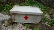 Antique Primitive Old Wooden Medicine Apothecary Wall Cabinet Chest Cupboard