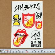 Sandm Bmx Bikes Assorted Stickers/decal Sheet American Made Bicycles