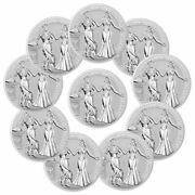 Lot Of 10 2020 Germany Allegories Germania And Italia 1 Oz Silver Medal Bu