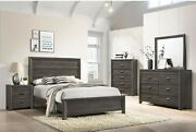 Contemporary Bedroom Furniture King/queen/full/twin Size Bed Set Brown Finish