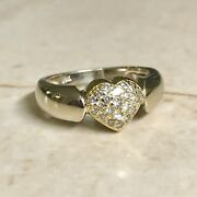 Fine Vintage 18k Diamond Heart Ring - Cocktail Ring - Valentine's Day Jewelry