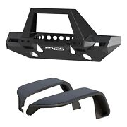 Aries 2082097 Trailchaser Front Bumper And Fender Flares For Jeep Jl Option 9