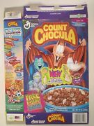 1996 Mt Cereal Box General Mills Count Chocula New Monster Marshmallows [y156e3]