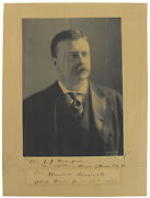 Theodore Roosevelt Authentic Signed 1902 7.75x11 Mounted Photo Bas A57057