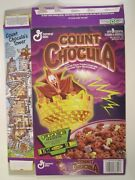 1995 Mt Cereal Box General Mills Count Chocula Glow Crayon Offer [y156e7]