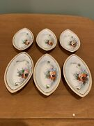 Vintage Nippon Hand Painted Butter Patstea Bag Holders Set Of 6 Meito China