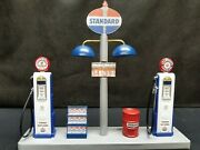 Standard Gas Pump Island Display W/gas Price Sign 118th Hand Crafted New