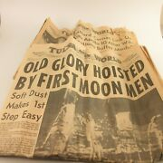 Tulsa Daily World Man On The Moon And Apollo 10 Newspaper Armstrong Aldrin