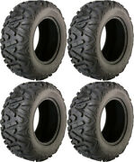 Four 4 Moose Switchback Atv Tires Set 2 Front 32x10-14 And 2 Rear 32x10-14