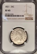 1821 Capped Bust Quarter Ngc Xf45 Andmdash Great Type Coin