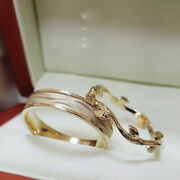 Real Band Sets 14k Yellow Gold Couples Valentine Surprise Gift All Sizes