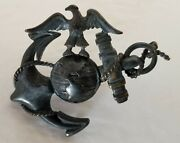 Wwi U. S. Marine Corps Officer's Cover Ornament - Eagle, Globe And Anchor - Usmc