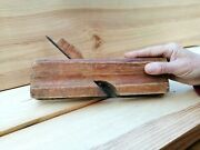 Antique Wood Moulding Plane Curved Blade Carpentry Tool Complex Woodwork Molding