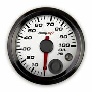 Holley 553-127w Oil Pressure Gauge - Standard 2-1/16 Size - Can New