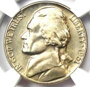 1961 Jefferson Nickel 5c Coin - Ngc Ms66 5fs - Rare Full Steps - 5000 Value