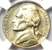 1961 Jefferson Nickel 5c Coin - Ngc Ms66 5fs - Rare Full Steps - 5,000 Value