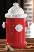Pet Lover Cat Dog Ceramic Fire Hydrant Treat Jar Canister Container Kitsch 11andrdquo
