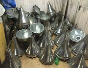 Antique Old Large Nautical Pendant Stainless Steel Light Brass Hook Lot Of 10