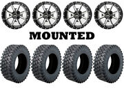 Kit 4 Moose Insurgent Tires 27x9-14/27x11-14 On Frontline 556 Machined Ter
