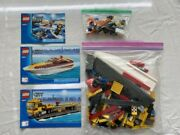 Lego City Power Boat Transporter And Surfer Rescue 4643 And 60011 Read Description
