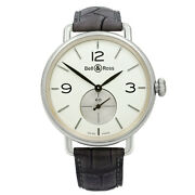Bell And Ross Argentium Opaline Dial Hand-wind Mens Watch Brww1-me-ag-op/scr