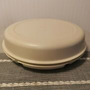 Vintage Tupperware Divided Serving Tray With Lid Vegetable Relish Chip And Dip