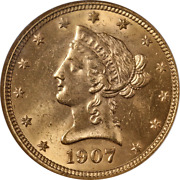1907-p Liberty Gold 10 Ngc Ms64 Superb Eye Appeal Strong Strike