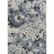 Easton 7'10w X 11'2l Power-loomed Bountiful Area Rug In Pewter