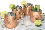 Pure Copper Solid Hammered Cups Mug Moscow Mule Cup Beer Mug