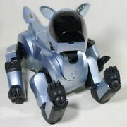 Sony Aibo Robot Ers-210 Silver Rare As-is