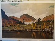 Aj Casson Print 26 X 18 Morning Mist Rouge River Free Shipping