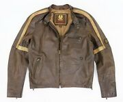 Belstaff Hero Lather Jacket Tom Cruise War Of The Worlds Movie Size M - L