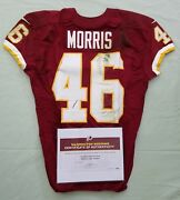 46 Alfred Morris Of Redskins Nfl Game Used And Unwashed Jersey Vs Eagles With Coa
