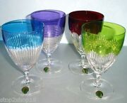 Waterford Mixology All Purpose Set/4 Colored Crystal Stem Glasses 163863 New