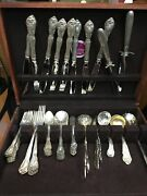 Chateau Rose Pattern By Alvin Sterling Silver And Others Flatware Set