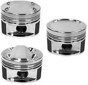 Manley 86mm Over Bore 8.51 Dish Pistons W Rings For 03-06 7 Bolt 4g63t