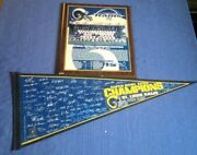 2000 St Louis Rams Super Bowl Xxxiv - Champions Pennant And Plaque