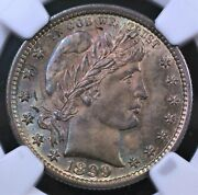 1899 Barber Quarter Ngc Ms63 Glorious Color Luster Strike And Surfaces Looks Gem