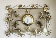 Vintage United Electric Wall Clock Maple Leaf Working Clock And Lighting