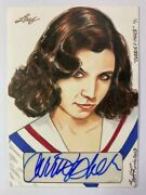 2013 Leaf Pop Century Carrie Fisher Autograph 1/1 Sketch Card By Scott Rorie