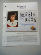 Margaret Thatcher Autograph - Signed First Day Cover Women Of Achievement