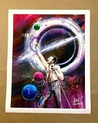 Lora Zombie Freddie Mercury Signed Art Print Queen Rock And Roll Poster Chevrier
